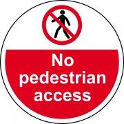 400mm dia. No pedestrian access Floor Graphic