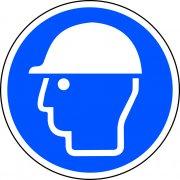400mm dia. Safety Helmet Symbol Floor Graphic
