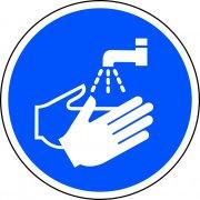 400mm dia. Wash hands Symbol Floor Graphic