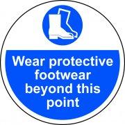 400mm dia. Wear protective footwear beyond Floor Graphic
