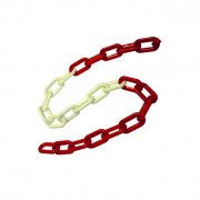 5m Red/White Plastic Chains