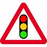 600mm tri. Temporary Sign & Frame - Traffic Lights