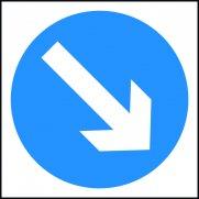 750 x 750mm Temporary Sign & Frame - Keep Right Arrow