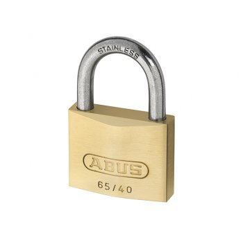 ABUS 65IB/40 40mm Brass Padlock Stainless Steel Shackle Carded