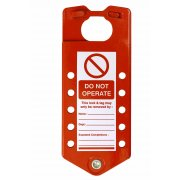 Aluminium Lockout Sign Hasp