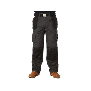 Apache Black & Grey Holster Trousers Waist 34in Leg 29in