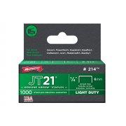 Arrow JT21 T27 Staples 6mm (1/4in) Box 1000