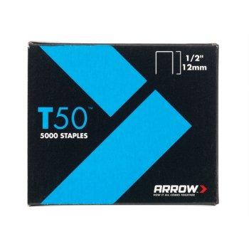 Arrow T50 Staples 12mm (1/2in) Bulk Pack 5000