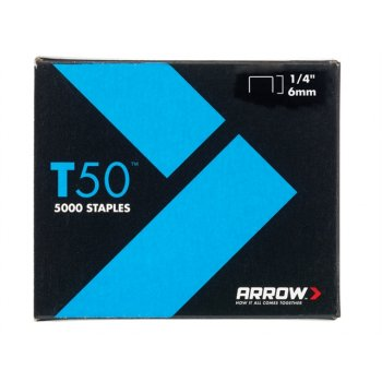 Arrow T50 Staples 6mm (1/4in) Bulk Pack 5000