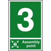 Assembly Point 3 - PVC (200 x 300mm)