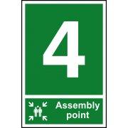 Assembly Point 4 - PVC (200 x 300mm)