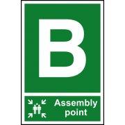 Assembly Point B - PVC (200 x 300mm)