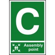 Assembly Point C - PVC (200 x 300mm)