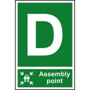 Assembly Point D - PVC (200 x 300mm)