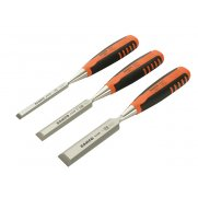 Bahco 424-P Bevel Edge Chisel Set of 3: 12, 18 & 25mm