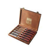 Bahco 424P-S6 Bevel Edge Chisel Set of 6 In Wooden Box