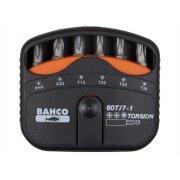 Bahco 60T/7-1 Torsion Bit Set PH / PZ / Torx 7 Piece