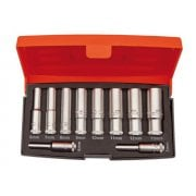 Bahco S0810L 1/4in Drive Deep Socket Set of 10 Metric