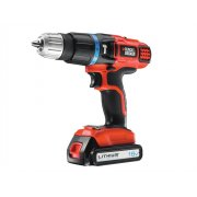 Black & Decker EGBL88K Cordless Combi Hammer Drill 2 Speed 18 Volt 1 x 1.3Ah Li-Ion