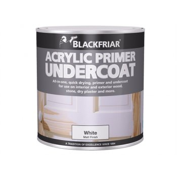 Blackfriar Quick Drying Acrylic Primer Undercoat White 500ml