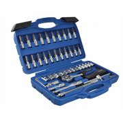 BlueSpot Tools 1/4in Square Drive Socket & Bit Set 46 Piece