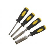 BlueSpot Tools Chisel Set Double Colour Handle Set of 4: 6, 12, 19 & 25mm