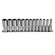 BlueSpot Tools Deep Socket Set of 13 Metric 3/8in Square Drive