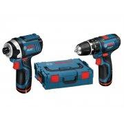 Twin Pack GSB10.8-2-LI Drill & GDR10.8V-LI Driver 10.8 Volt 2 x 2.0Ah Li-Ion