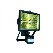 Byron ES400 Halogen Floodlight with Motion Detector Black 400 Watt