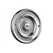 Byron Round Wired Bell Push Flush Fit Chrome