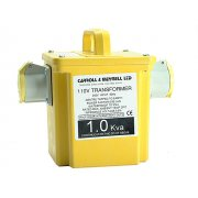 Carroll & Meynell 2250/2 Transformer Twin Outlet Rating 2.25 Kva Continuous 1.125kva