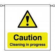 Caution Cleaning in progress - Barrier Sign (760 x 760mm)