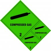Compressed gas Class 2 labels - SAV (200 x 300mm) (Pack of 3)