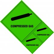 Compressed gas lablels - SAV (200 x 300mm) (Pack of 3)