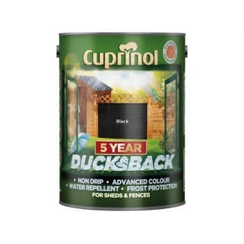 Cuprinol Ducksback 5 Year Waterproof for Sheds & Fences Black 5 Litre