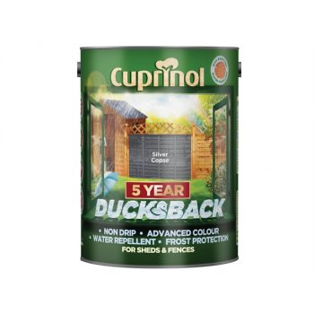 Cuprinol Ducksback 5 Year Waterproof for Sheds & Fences Silver Copse 5 Litre