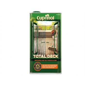 Cuprinol Total Deck Restore & Oil Wood Clear 5 Litre