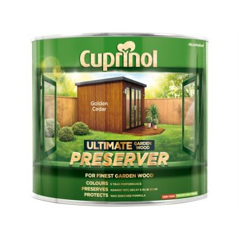 Cuprinol Ultimate Garden Wood Preserver Golden Cedar 1 Litre