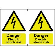Danger Electric shock risk - PVC (300 x 200mm)