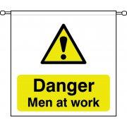 Danger Men at work - Barrier Sign (760 x 760mm)