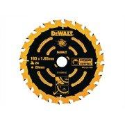 DEWALT Circular Saw Blade 165 x 20mm x 24T Corded Extreme Framing