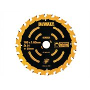 DEWALT Circular Saw Blade 165 x 20mm x 24T Cordless Extreme Framing