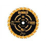 DEWALT Circular Saw Blade 184 x 16mm x 24T Corded Extreme Framing