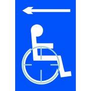 Disabled arrow left - Taktyle (150 x 225mm)