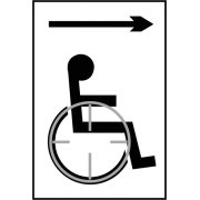 Disabled arrow right - Taktyle (150 x 225mm)