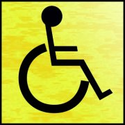 Disabled symbol - BRG (120 x 122mm)