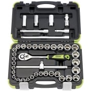 "DRAPER 1/2"" Sq. Dr. Combination Socket Set (41 Piece): Model No. SD41AM/LE"
