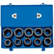 "1"" Sq. Dr. Combined MM/AF Deep Impact Socket Set in Metal Case (10 Piece): Model No. 425D/10"