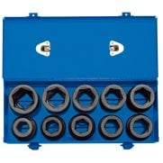 "1"" Sq. Dr. Combined MM/AF Impact Socket Set in Metal Case (10 Piece): Model No. 425/10"