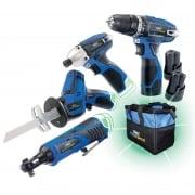 DRAPER 10.8V Drill 4 Pack +3 Batteries and Bag - Stormforce Interchange Ultimate Deal: Model No. *10.8V4+3